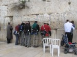 Team at Wailing Wall