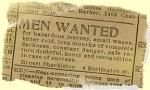Shackelton's Want Ad