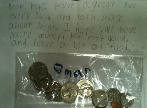Gabriel Smith's Offering for our Boys Home in India. | June 2011