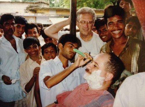 A visit to the village barbershop. | 1999 | Bangladesh