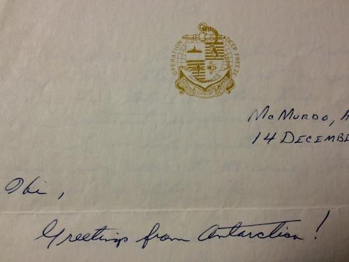 Antarctica Letter