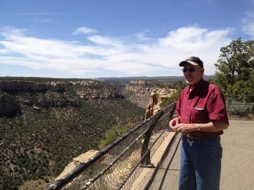 Dad at Mesa Verde
