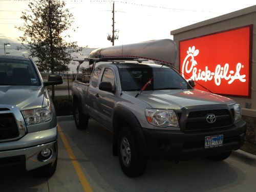 Canoe at Chic-fil-A