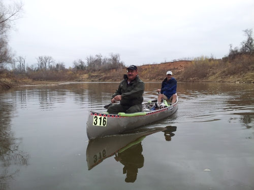 Doyle and me in our canoe, Number 316.