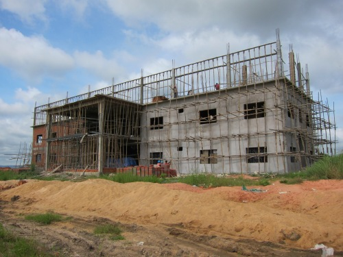 Construction continues on The Hope Center in Poipet, Cambodia.