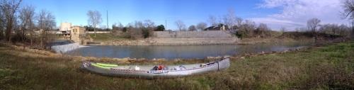 Portaging around Gonzales Dam.