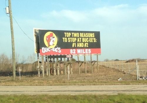 Buc-ees Sign