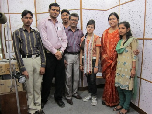 The Khush Khabri production team.