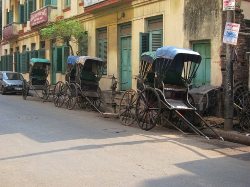 Our tour took us through quiet back streets away from Kolkata's main roads.