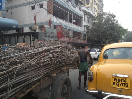 In Kolkata traffic en route to my speaking engagement this morning.