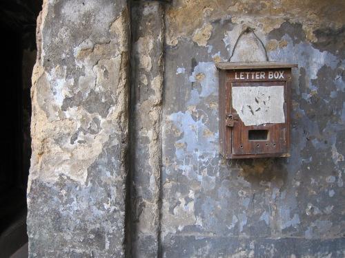 Letter Box at a home in Sova Bazar. | 16 March 13 | Kolkata, India