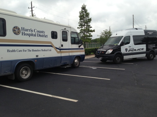 Mobile medical clinic and Homeless Outreach Team van.