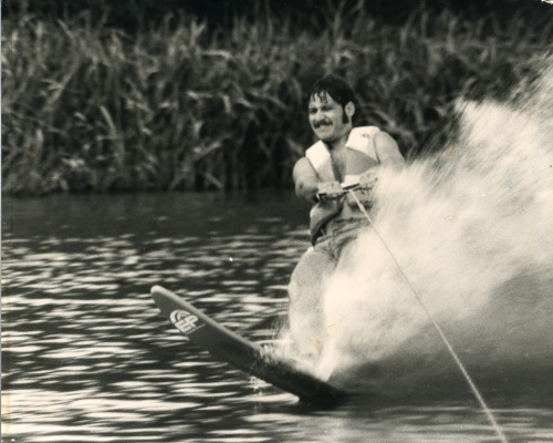 Water skiing on the Aransas River in 1979.
