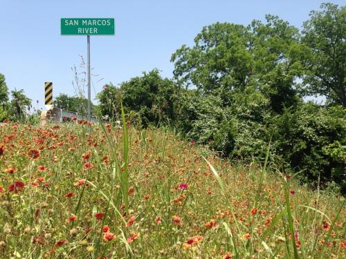 San Marcos River sign
