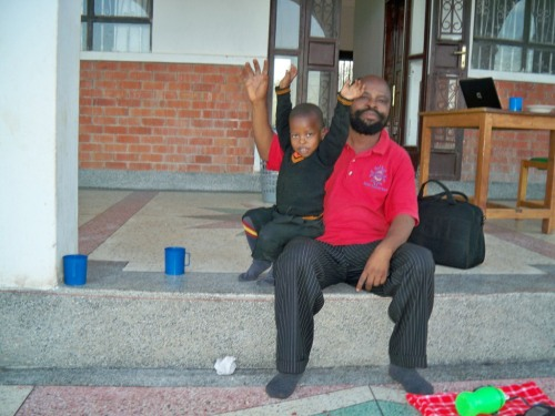 Pastor Mesach and his son David.