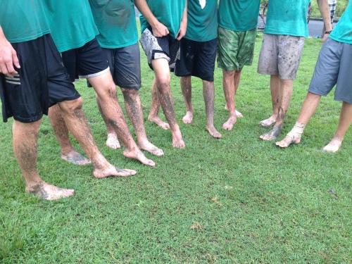 Soccer - Muddy Feet