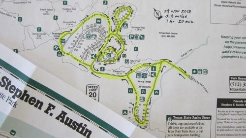 Paved Hike Map