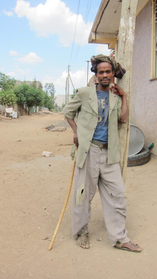 Ethiopian Man w Cane