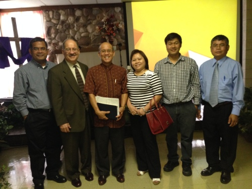 With some of the leaders of the Cambodian Baptist Church of Houston.