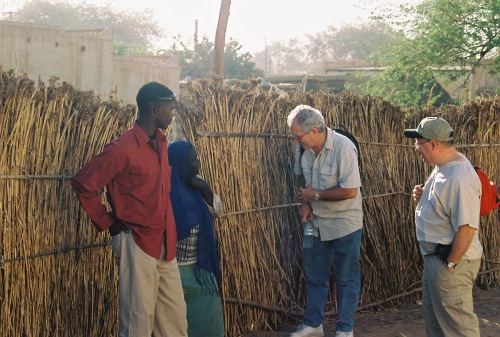 Jerry sharing good news. | 2004 | Al-Fashir in Darfur region of Sudan
