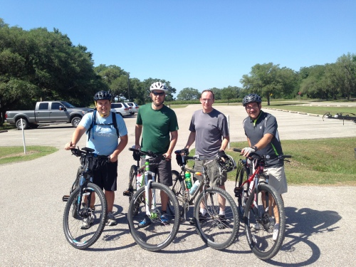 Biking at Brazos Bend State Park with some good Kingsland friends.