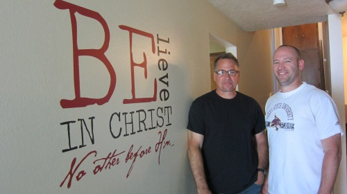Chad and Brian at one of The Way ministry homes in Boise.