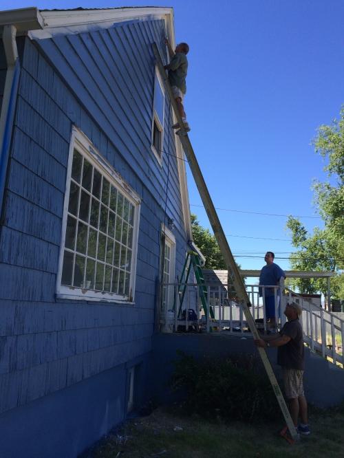 Omar on Ladder