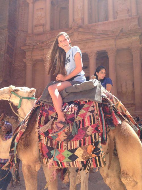Emily at Petra Treasury