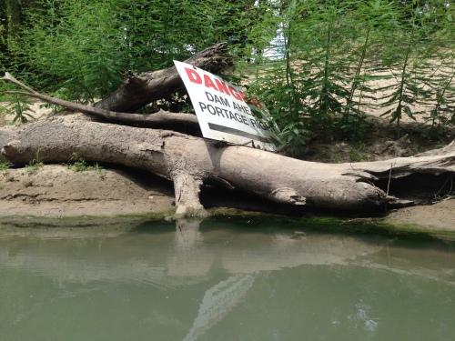 Ottine Dam Sign