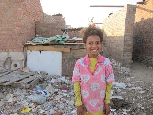 Girl Among Trash