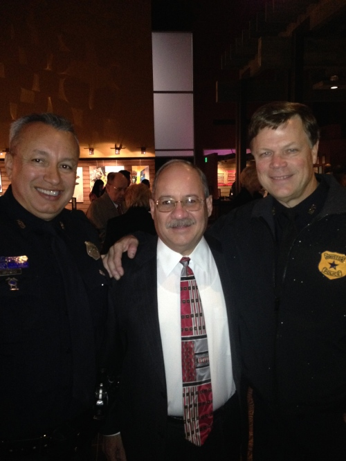 With HPD's Senior Police Officer Giraldo and Sergeant Wick.