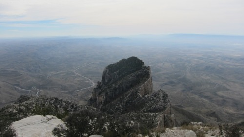 El Capitan as seen from the top of Guadalupe Peak.