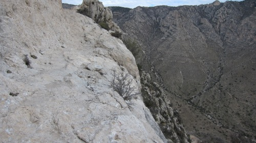 Part of the trail at higher elevation. Watch your step!