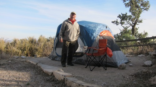 It was a cold night in my tent. Temps hovered around 36 degrees.