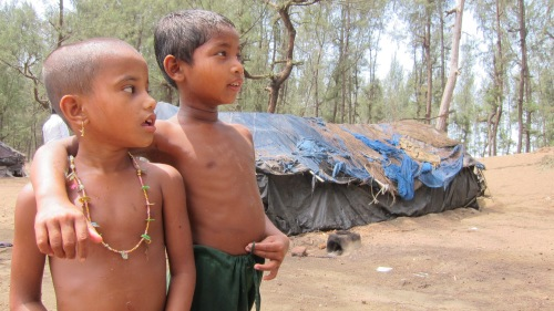 Rohingya Kids at Tent