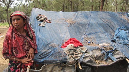 Rohingya Lady at Tent