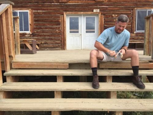 Gil Whittling in Alaska