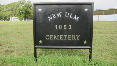 New Ulm Cemetery Sign