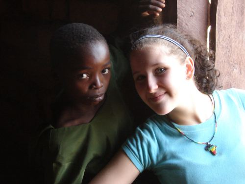 My daughter Gina and friend. | 2008 | Tanzania
