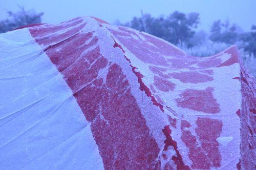 Ice on Tent