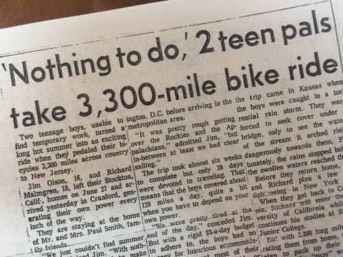Jim Olson Bike Ride