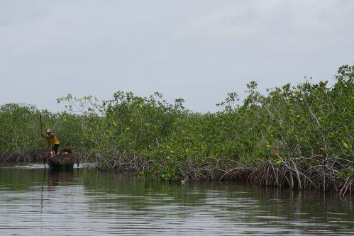 Miskito Canoe Front View