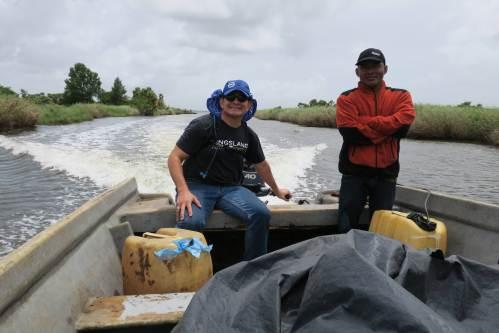 Selim in Boat