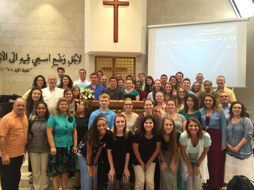 Students Worship in Amman 2016