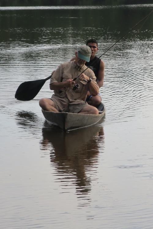 Gary in Canoe in Amazon