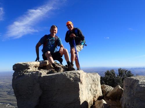 Omar-Doyle on Hunter Peak